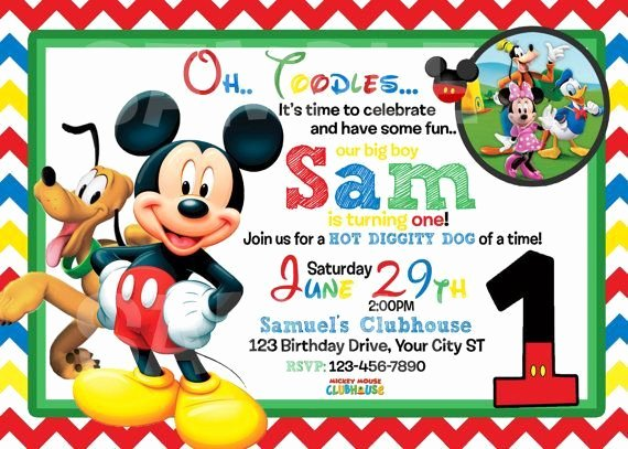 Mickey Mouse Birthday Invites Awesome Mickey Mouse 1st Birthday