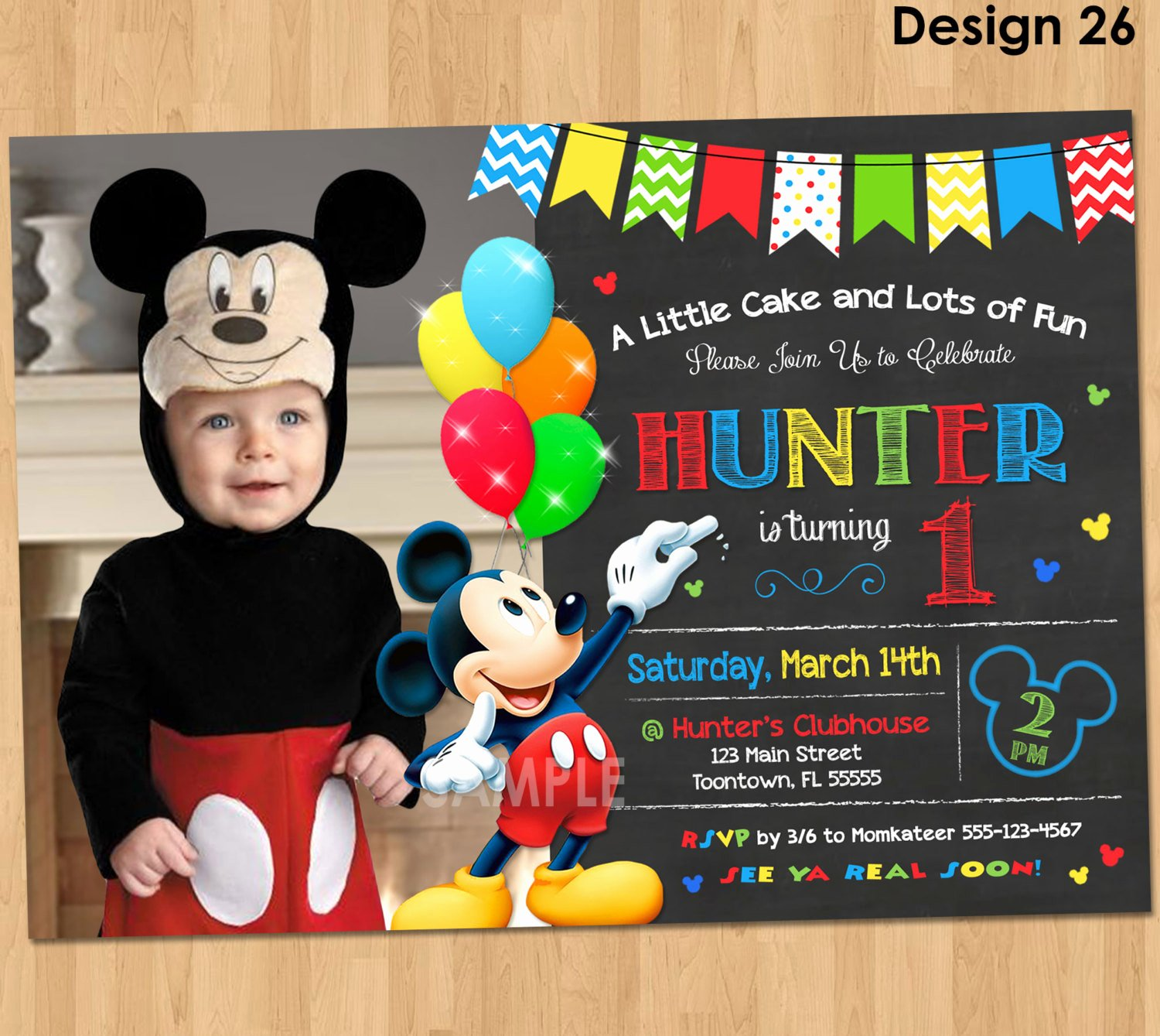Mickey Mouse Birthday Invites Best Of Mickey Mouse Clubhouse Invitations for Special Birthday