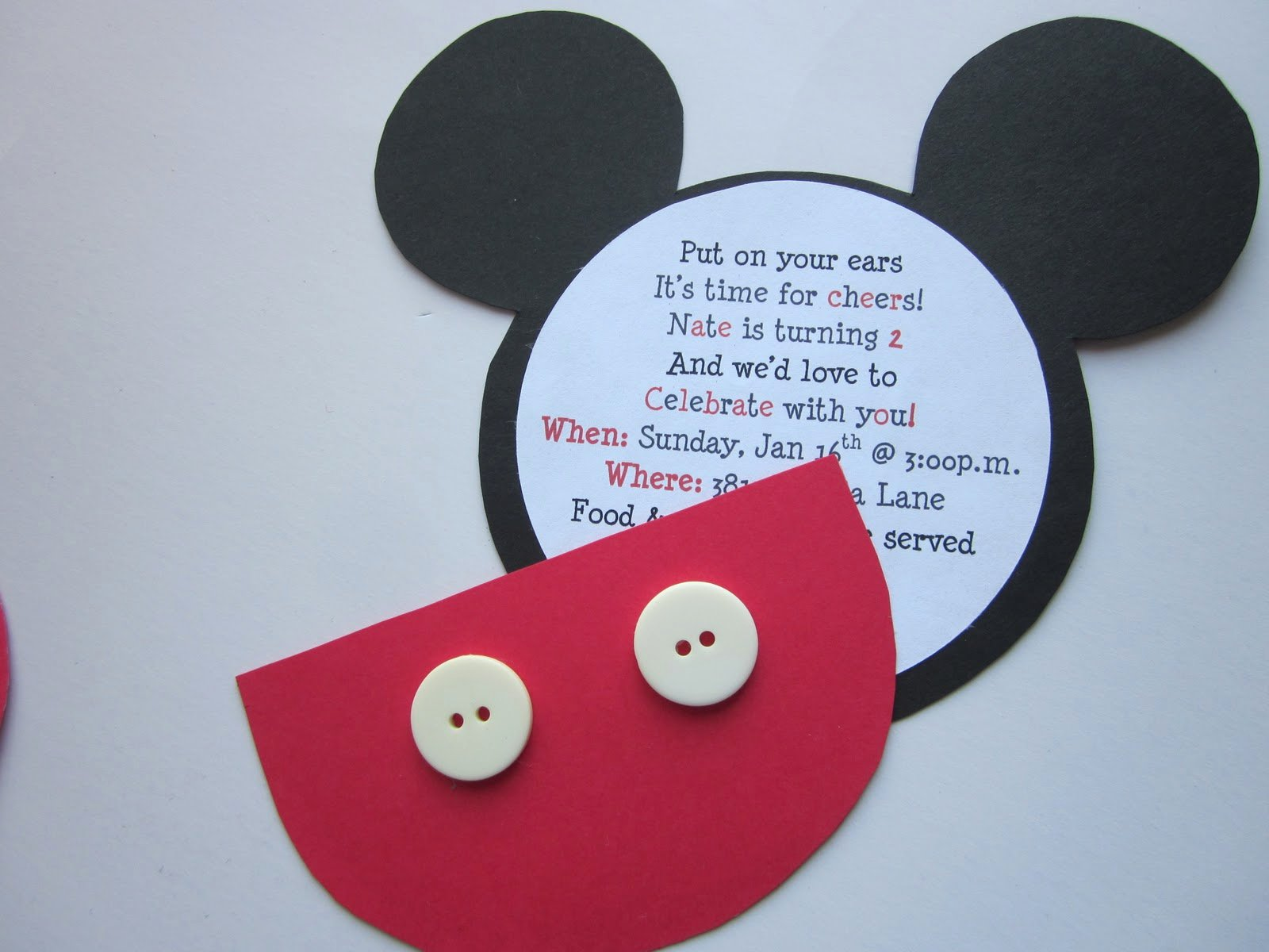 Mickey Mouse Birthday Invites Fresh Embellishing Life Mickey Birthday Invitations