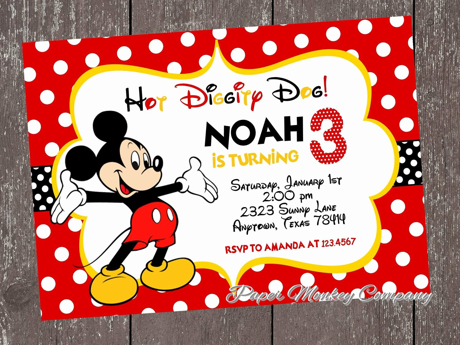Mickey Mouse Birthday Invites Fresh Exclusive Mickey Mouse Clubhouse Birthday Invitations