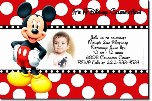 Mickey Mouse Birthday Invites Fresh Free Mickey Mouse Birthday Invitations