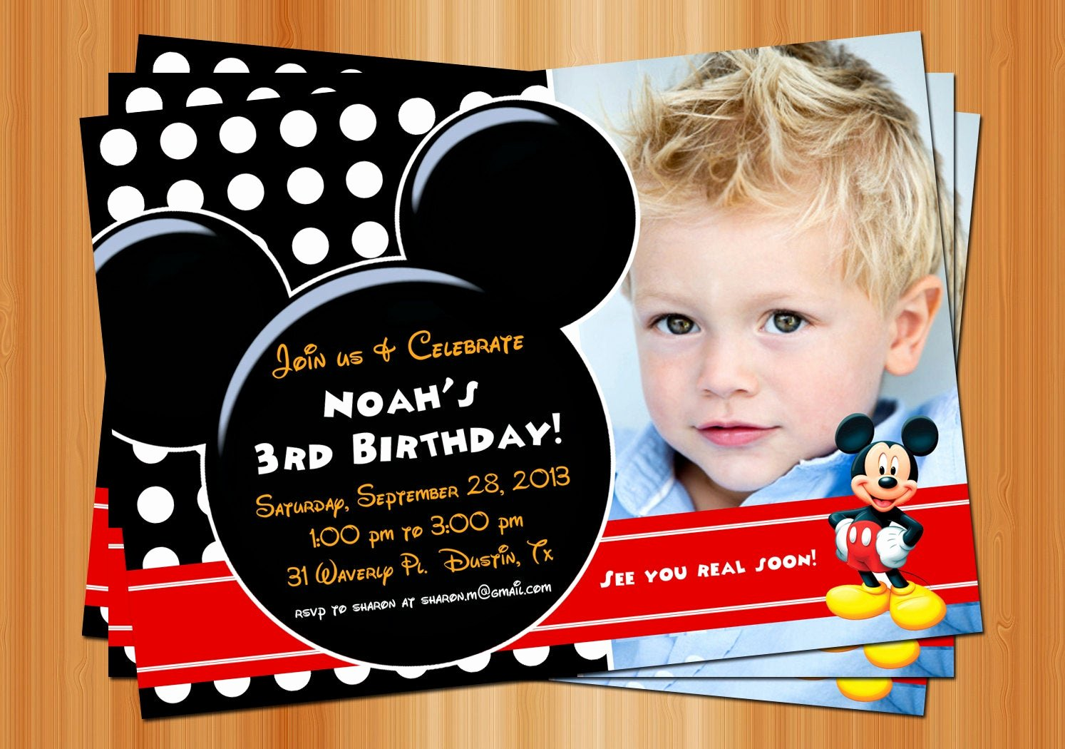 Mickey Mouse Birthday Invites Fresh Mickey Mouse Birthday Invitation Printable Birthday Party