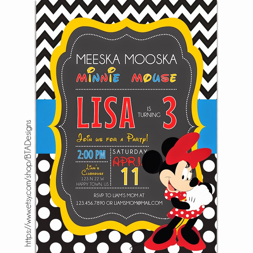 Mickey Mouse Birthday Invites Lovely Mickey Mouse Inspired Birthday Invitations Free Printable