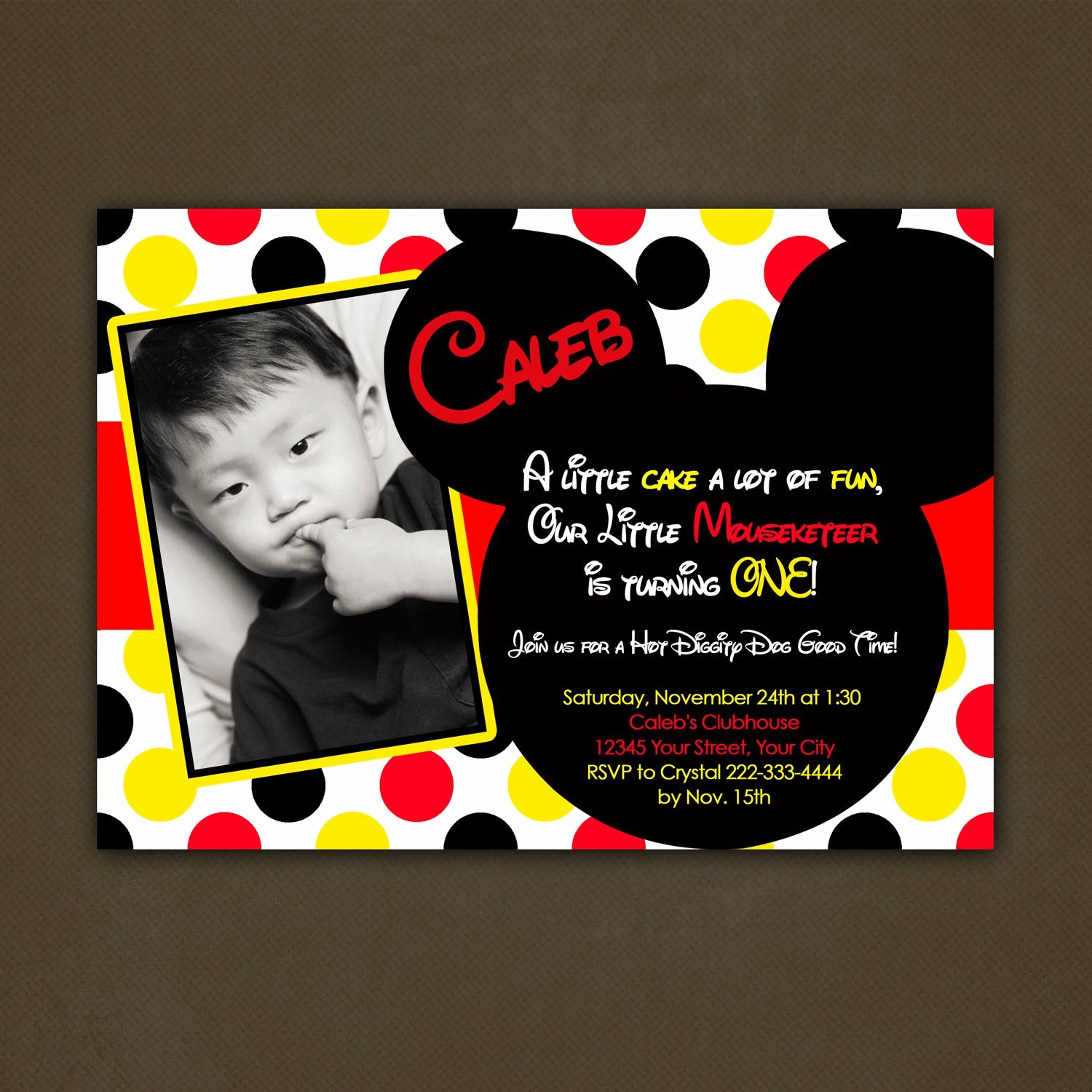 Mickey Mouse Birthday Invites Luxury the Fun Mickey Mouse Birthday Party Invitations
