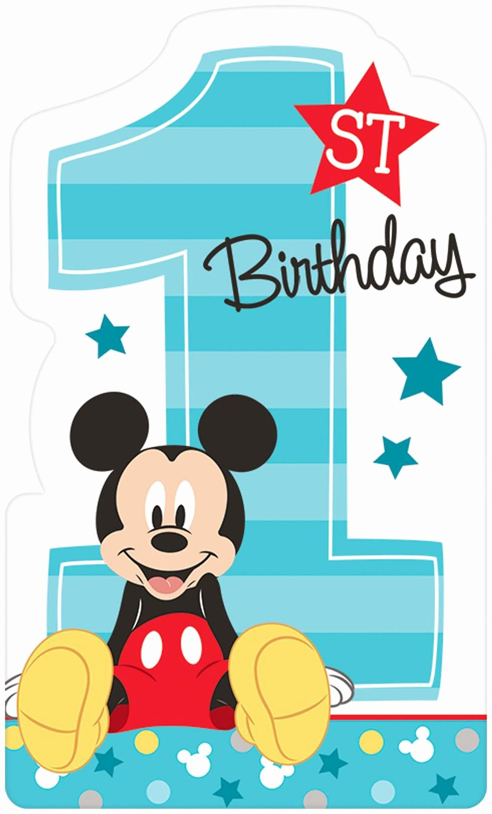 Mickey Mouse Birthday Invites Unique Disney Mickey Mouse 1st Birthday Invites Partybell