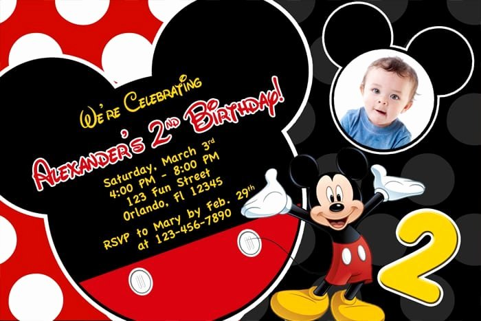 Mickey Mouse Birthday Invites Unique Free Printable Birthday Invitations Mickey Mouse