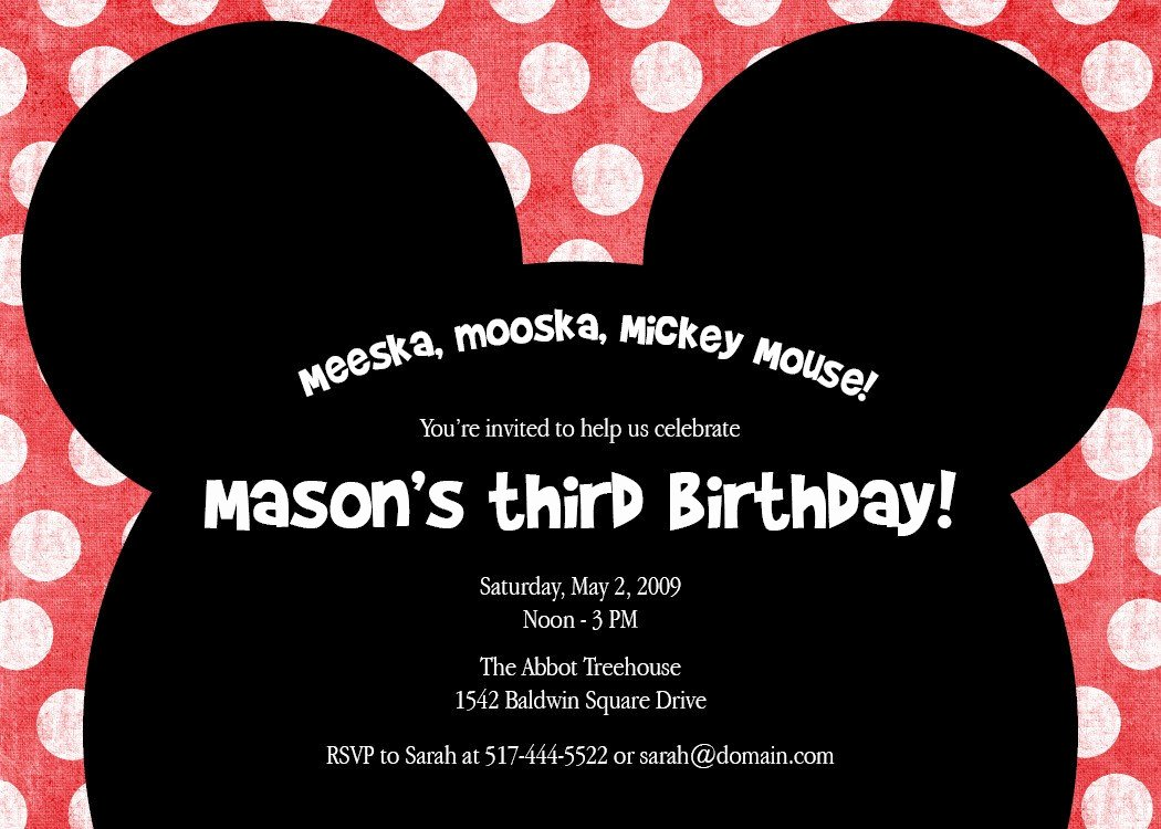 Mickey Mouse Birthday Invites Unique Meeska Mooska A Cute Mickey Mouse Birthday Party