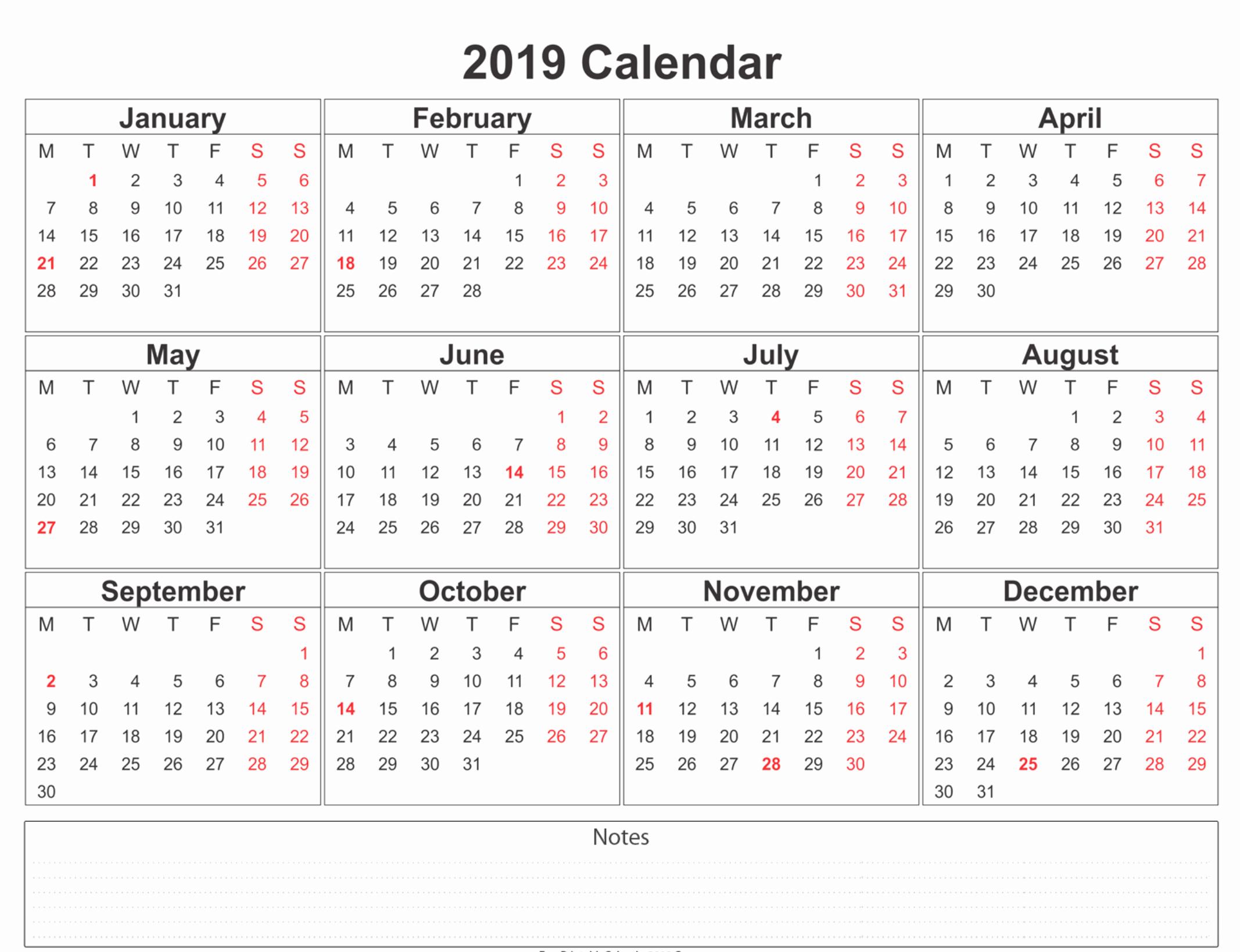 Microsoft Calendar Templates 2019 Elegant Printable Calendar 2019 Microsoft Word