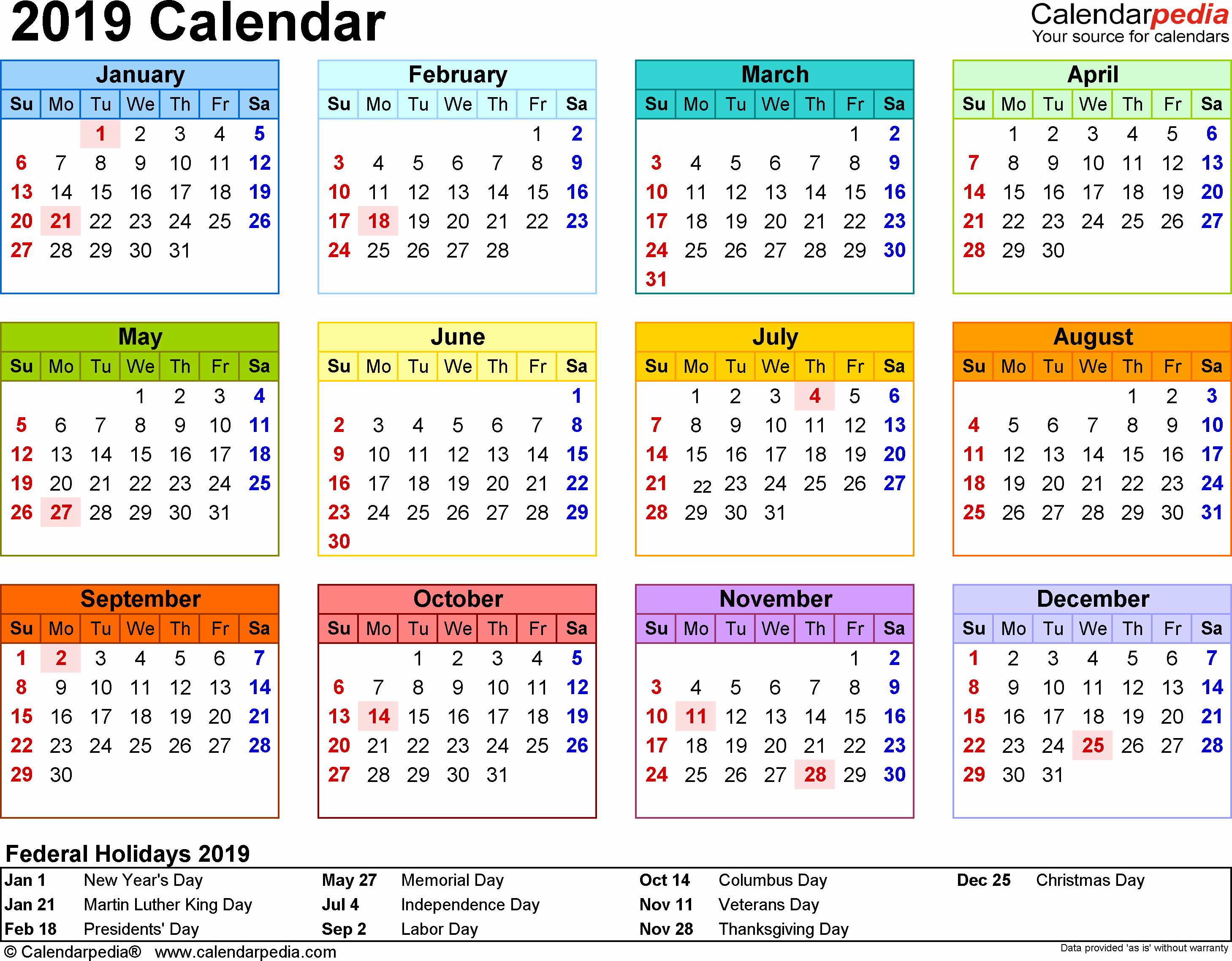 Microsoft Calendar Templates 2019 Inspirational 2019 Calendar 18 Free Printable Word Calendar Templates