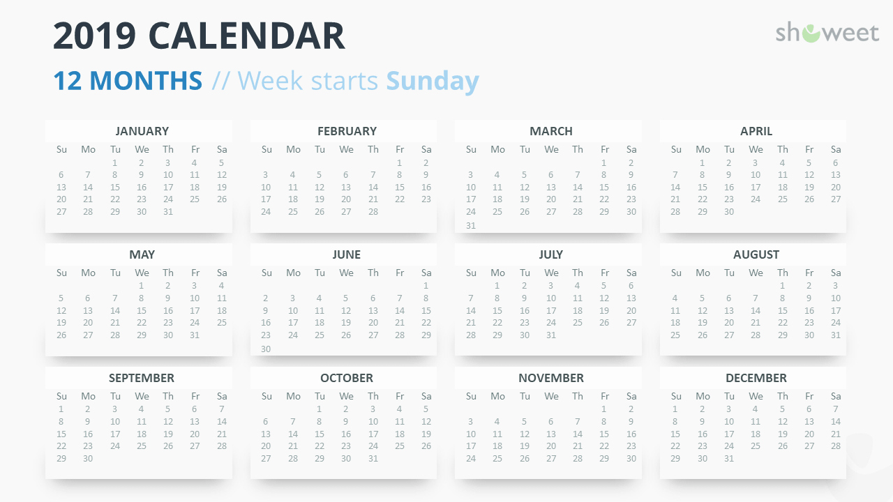 Microsoft Calendar Templates 2019 Inspirational 2019 Calendar Powerpoint Templates