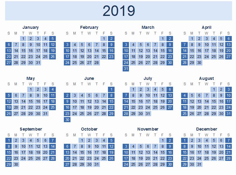 free printable calendar templates 2019