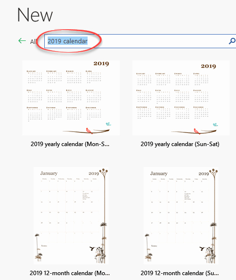 Microsoft Calendar Templates 2019 Luxury 2019 Calendars In Microsoft Word Fice Watch