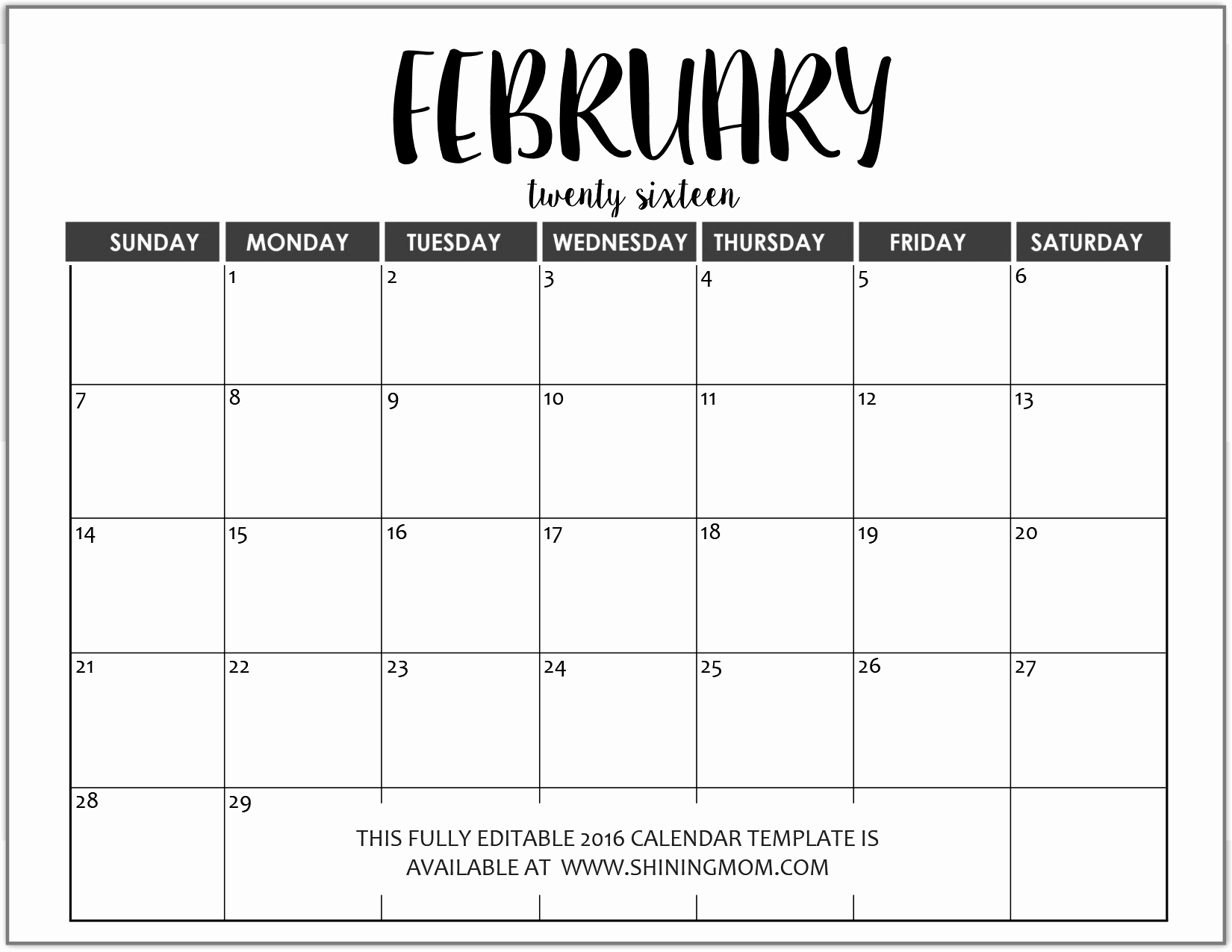 Microsoft Calendar Templates 2019 Luxury Just In Fully Editable 2016 Calendar Templates In Ms Word
