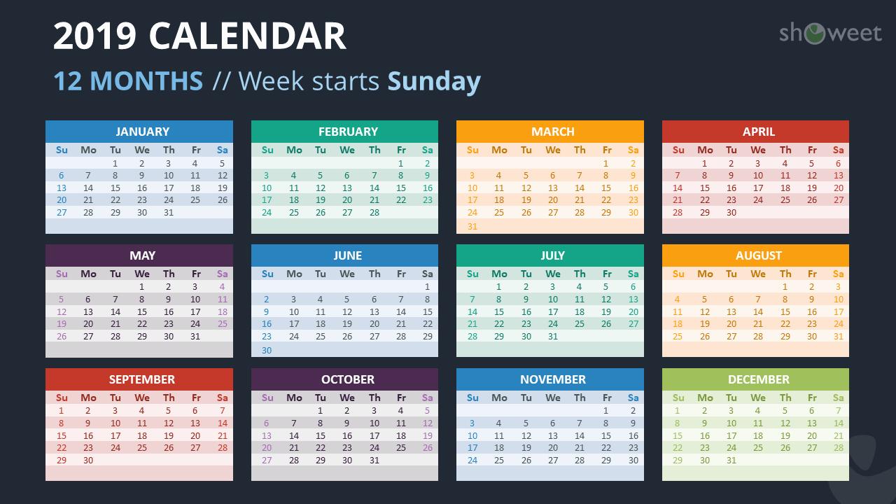 Microsoft Calendar Templates 2019 New 2019 Calendar Powerpoint Templates