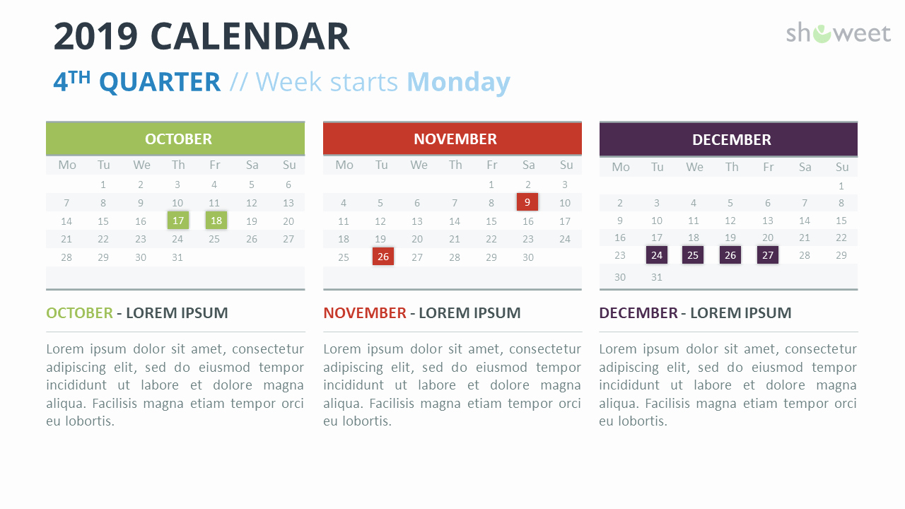 Microsoft Calendar Templates 2019 Unique 2019 Calendar Powerpoint Templates