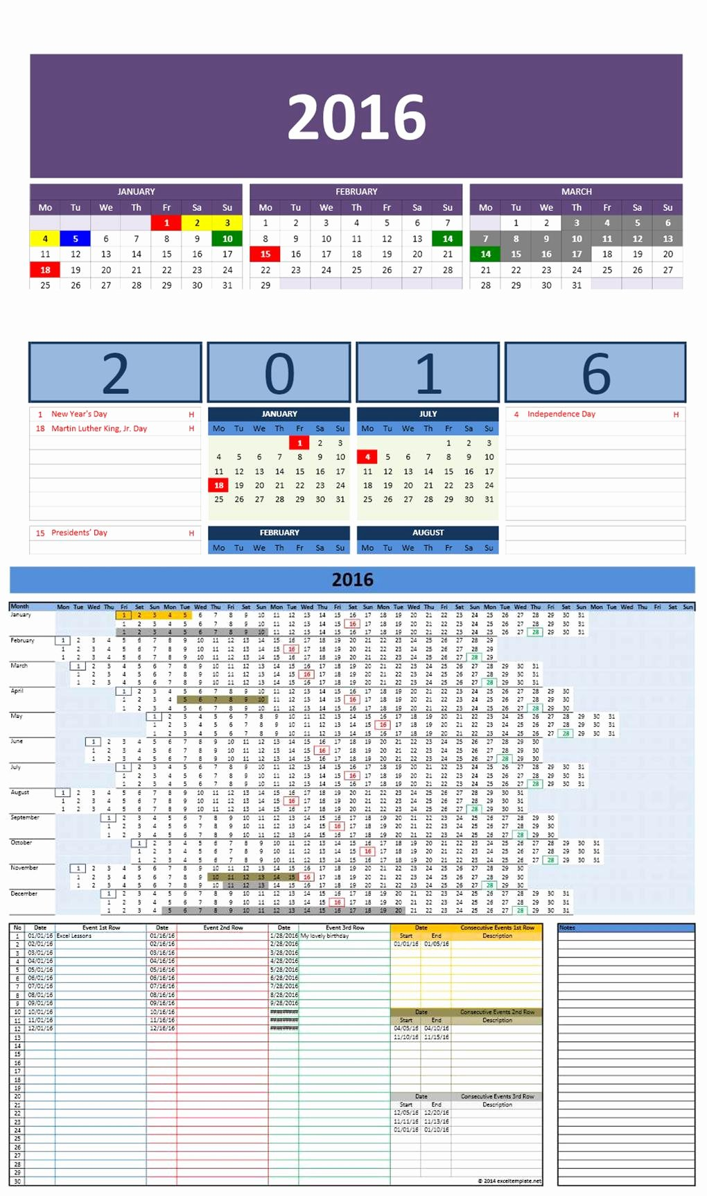 Microsoft Office Calendar Templates 2019 Awesome 2016 Excel Calendars