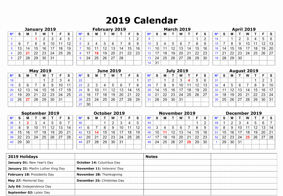 Microsoft Office Calendar Templates 2019 Awesome Free Yearly Calendar 2019 Printable Blank Templates
