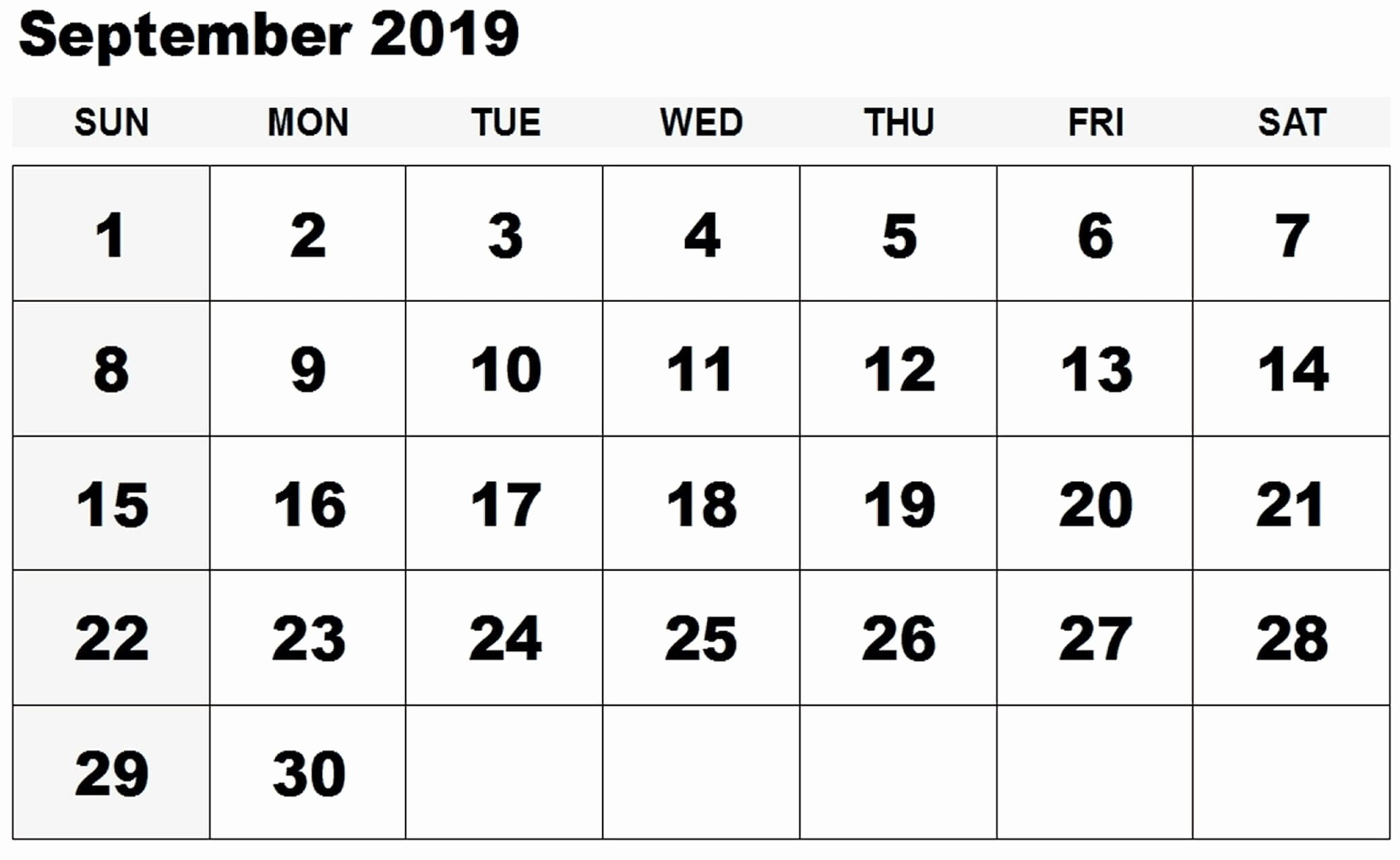 Microsoft Office Calendar Templates 2019 Best Of September 2019 Printable Calendar Fice Templates Net