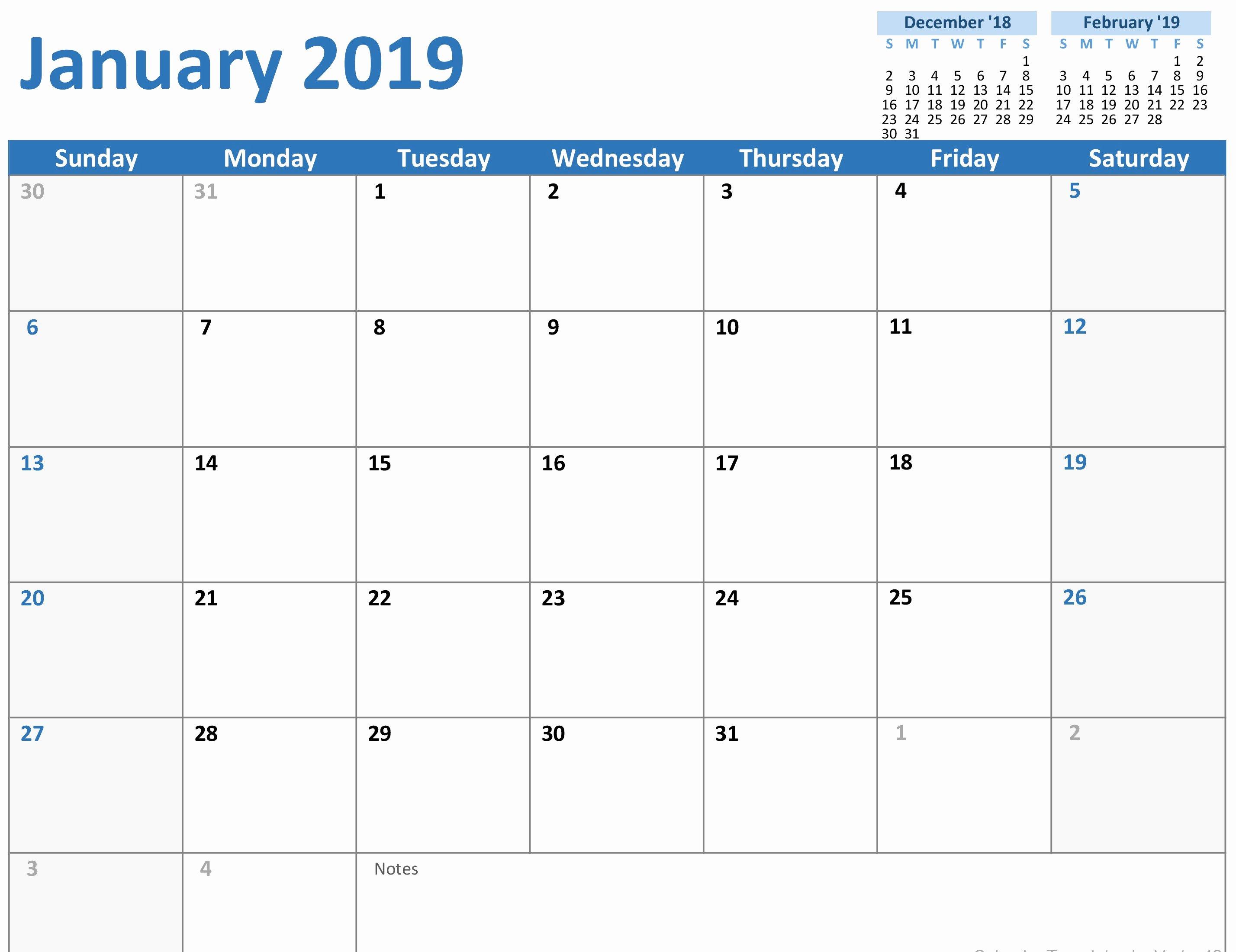 Microsoft Office Calendar Templates 2019 Fresh 2019 Calendar Mon Sun