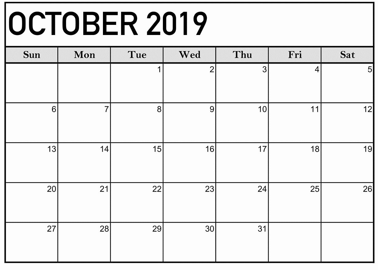 Microsoft Office Calendar Templates 2019 Fresh October 2019 Calendar Printable Word Template Latest