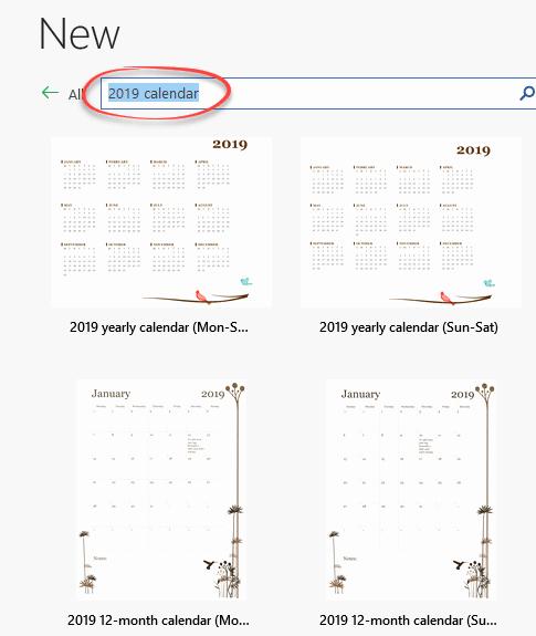 Microsoft Office Calendar Templates 2019 Inspirational 2019 Calendars In Microsoft Word Fice Watch
