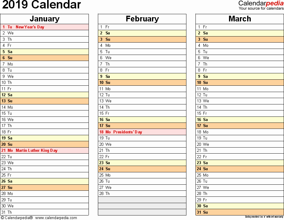 Microsoft Office Calendar Templates 2019 Luxury 2019 Calendar Download 18 Free Printable Excel Templates