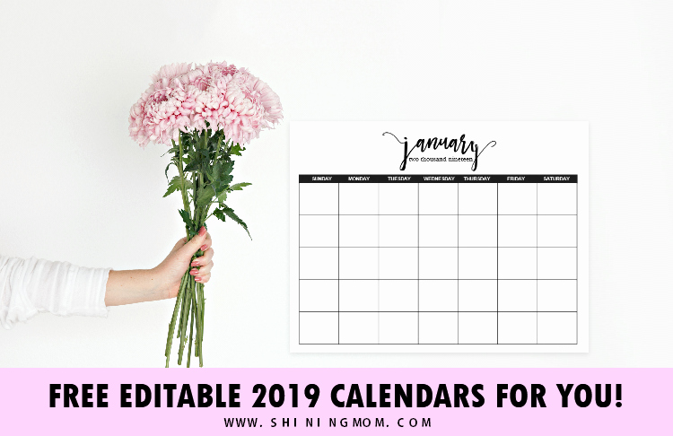 Microsoft Office Calendar Templates 2019 New Free Fully Editable 2019 Calendar Template In Word