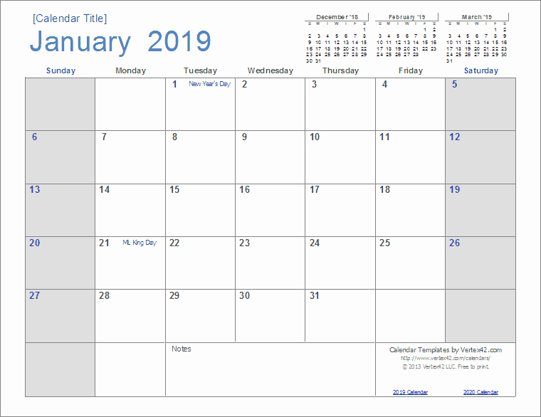 Microsoft Office Calendar Templates 2019 Unique 2019 Calendar Templates and