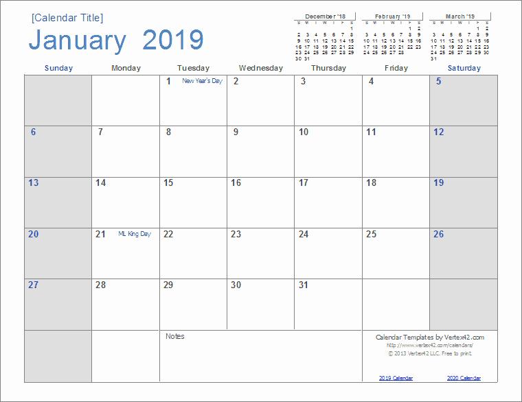 Microsoft Office Calendar Templates 2019 Unique 2019 Calendar Templates and