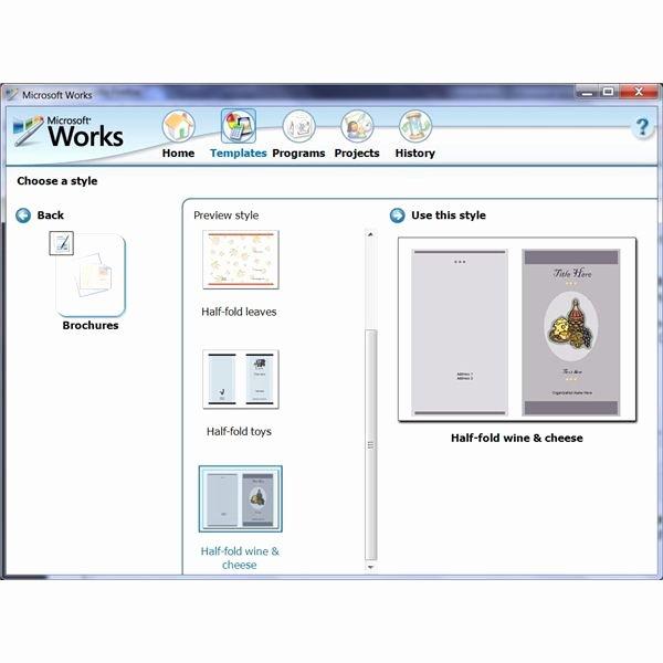 Microsoft Word Flyer Template Elegant Microsoft Word Brochure Template