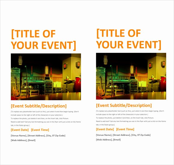 Microsoft Word Flyer Template New 12 Microsoft Flyer Templates Download Free Documents In
