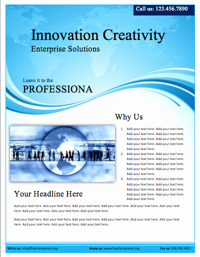 Microsoft Word Flyer Template New Free Flyers Templates