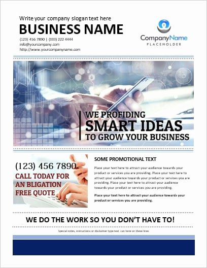 Microsoft Word Flyer Template New Printable Ms Word Business Flyer