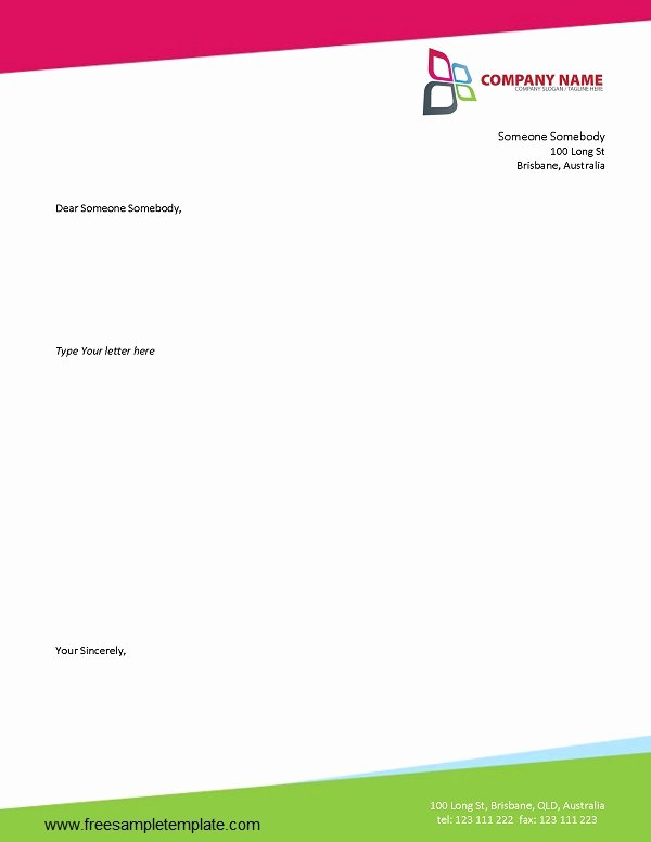 Microsoft Word Letterhead Template Beautiful Business Letterhead Template Free 2016