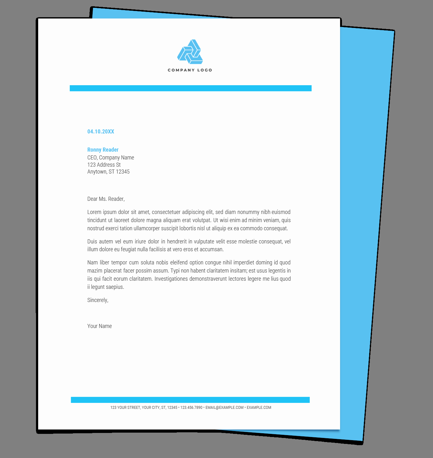 Microsoft Word Letterhead Template Elegant Free Letterhead Templates for Google Docs and Word
