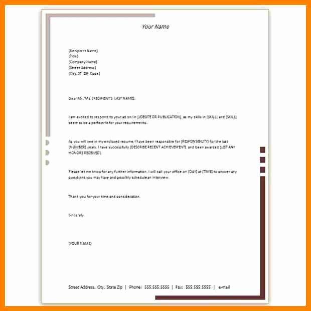 Microsoft Word Letterhead Template Inspirational 9 Microsoft Office Letterhead Template