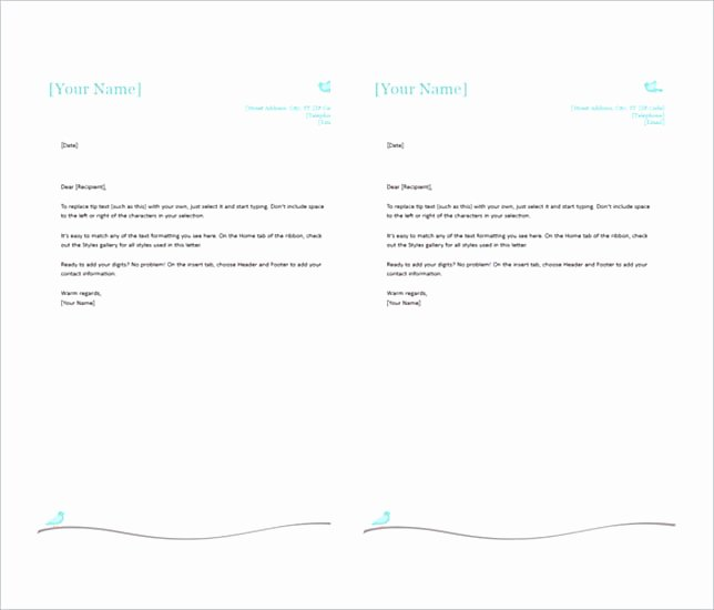 Microsoft Word Letterhead Template New Create the Letterhead Design In Proper Way