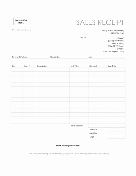 Microsoft Word Receipt Template Beautiful Pos Sales Receipt Template