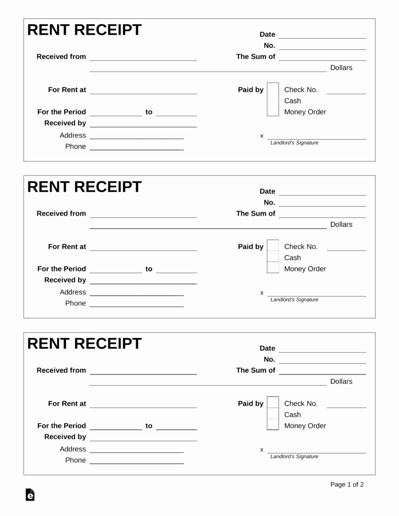 Microsoft Word Receipt Template Elegant Free Rent Receipt Template Pdf Word