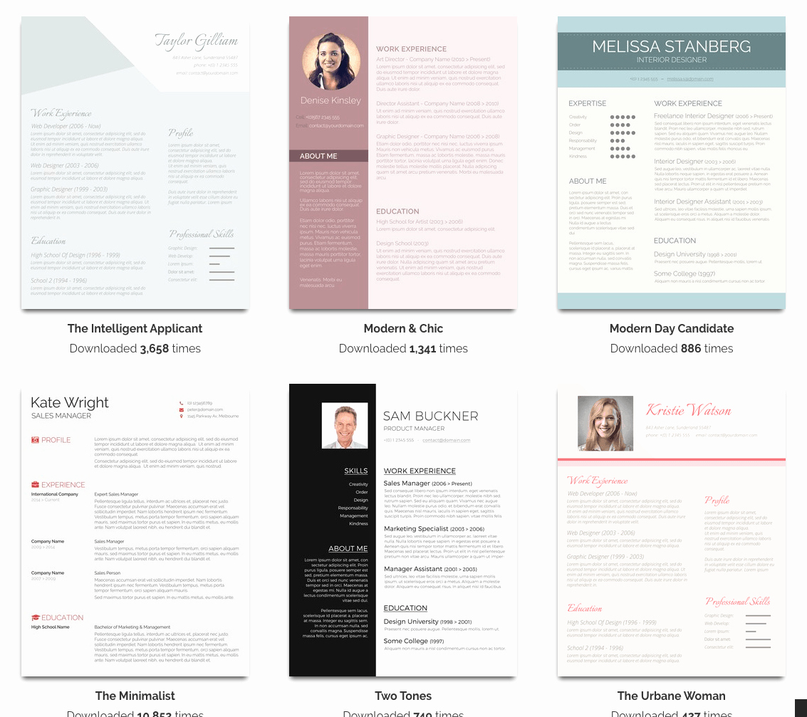 Microsoft Word Template Downloads Fresh Over 100 Free Resume Templates for Microsoft Word