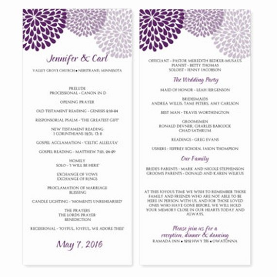 Microsoft Word Template Downloads Lovely Wedding Program Template Download Instantly by Karmakweddings