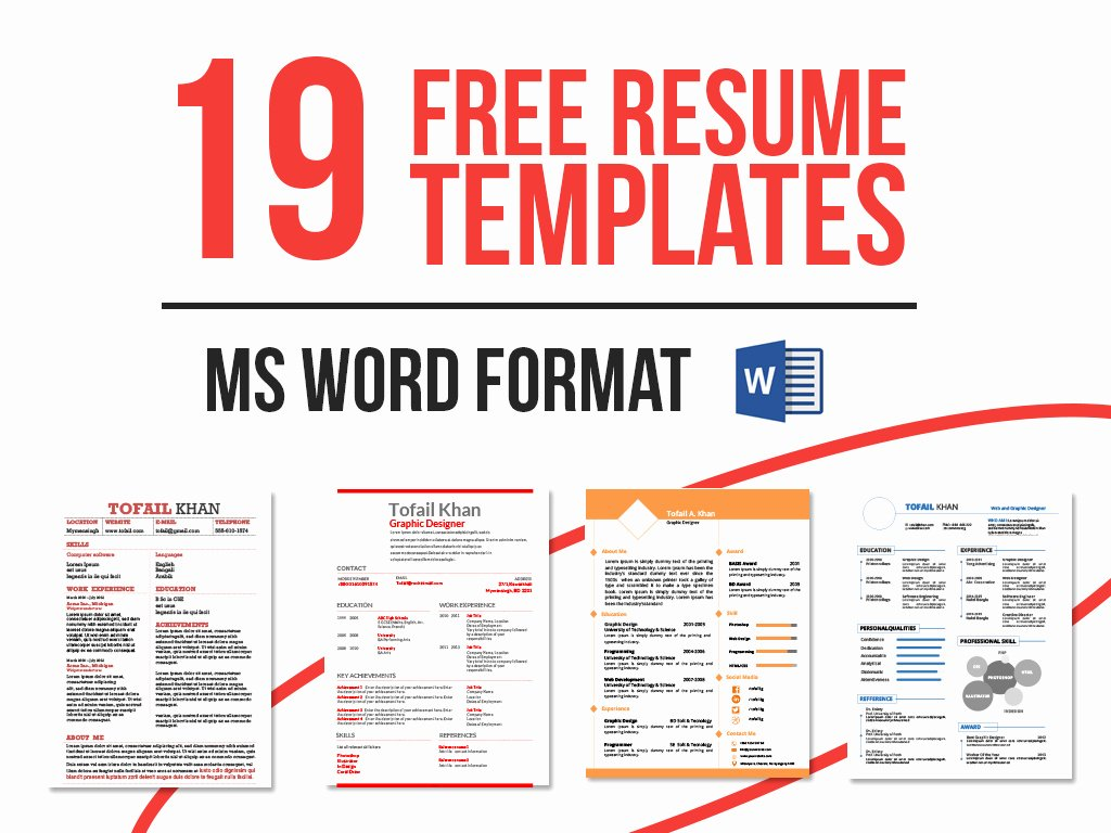 Microsoft Word Template Downloads New 19 Free Resume Templates Download now In Ms Word On Behance