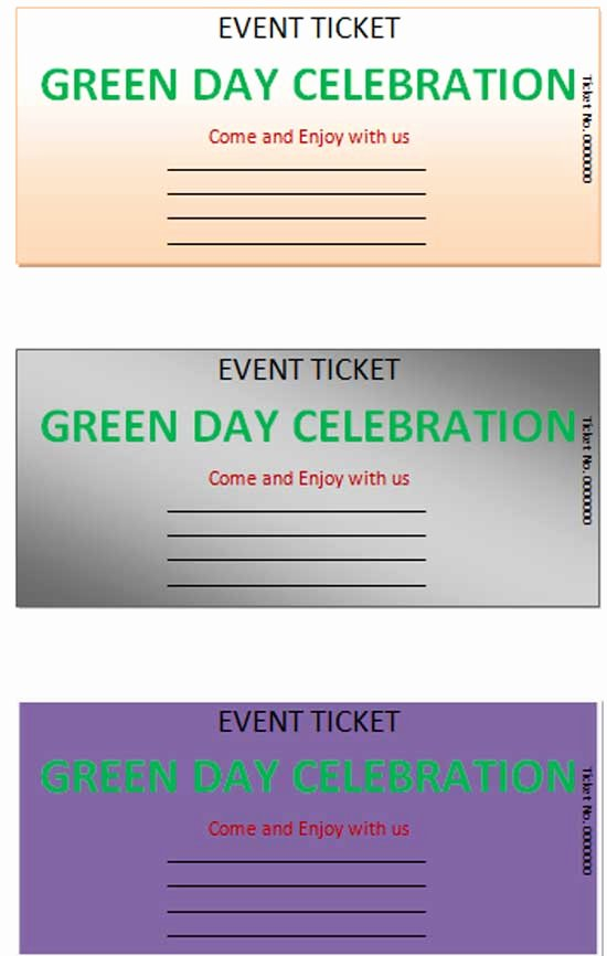 Microsoft Word Ticket Template Beautiful event Ticket Template
