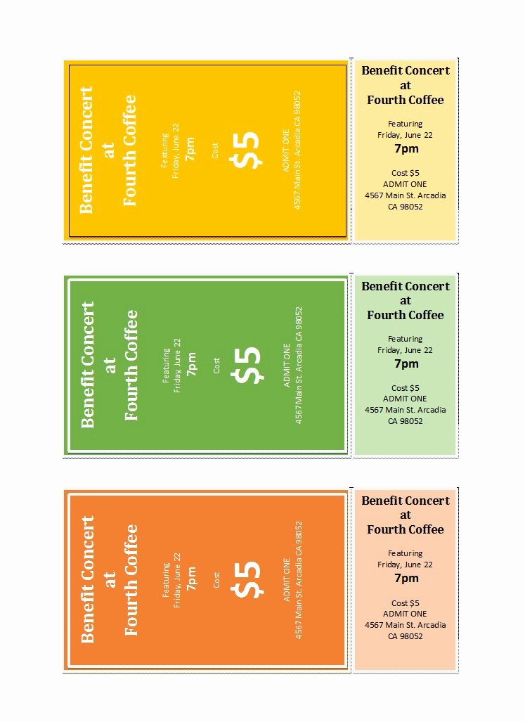 Microsoft Word Ticket Template Best Of 22 Free event Ticket Templates Ms Word Template Lab