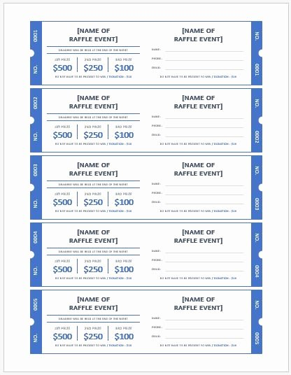 Microsoft Word Ticket Template Best Of Ms Word Raffle Ticket Templates