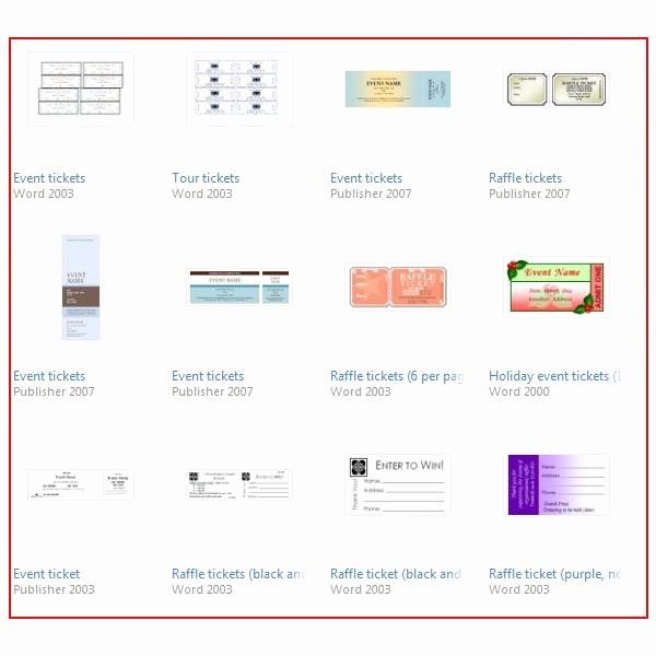 Microsoft Word Ticket Template Fresh Raffle Ticket Template sources