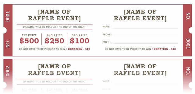 Microsoft Word Ticket Template Inspirational How to Get A Free Raffle Ticket Template for Microsoft Word