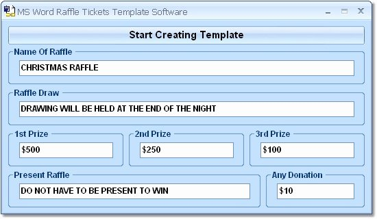 Microsoft Word Ticket Template Lovely Ms Word Raffle Tickets Template software