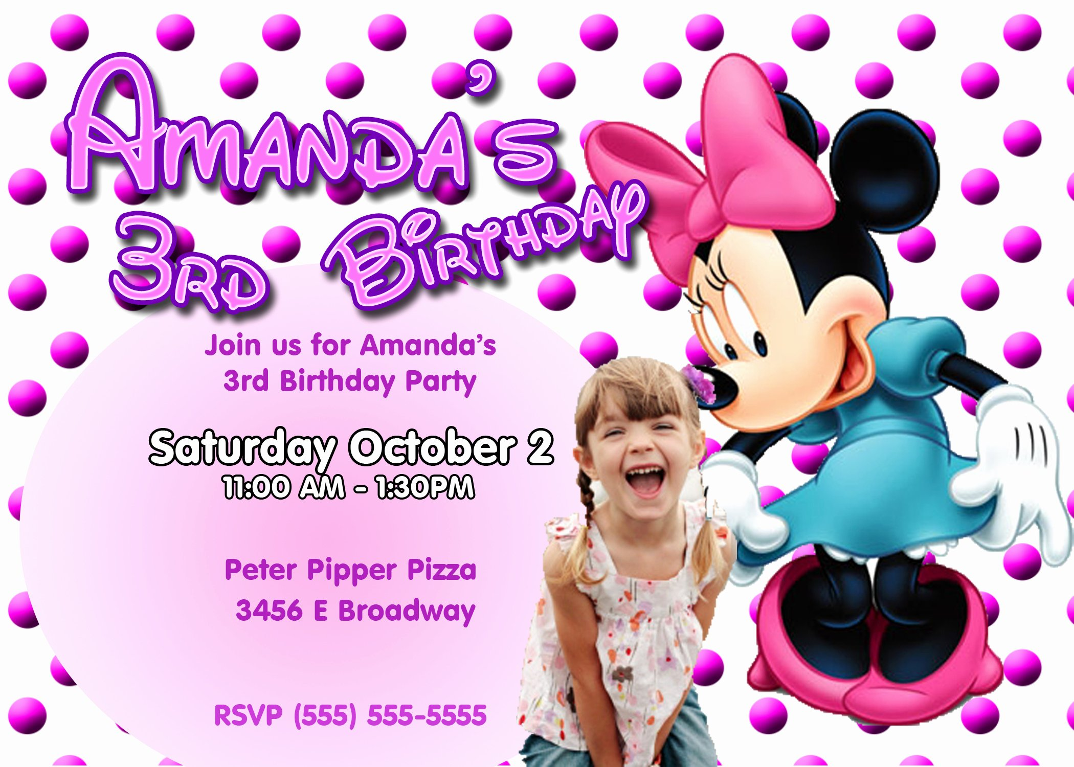 Minnie Mouse Birthday Invitations Awesome Minnie Mouse Birthday Invitations