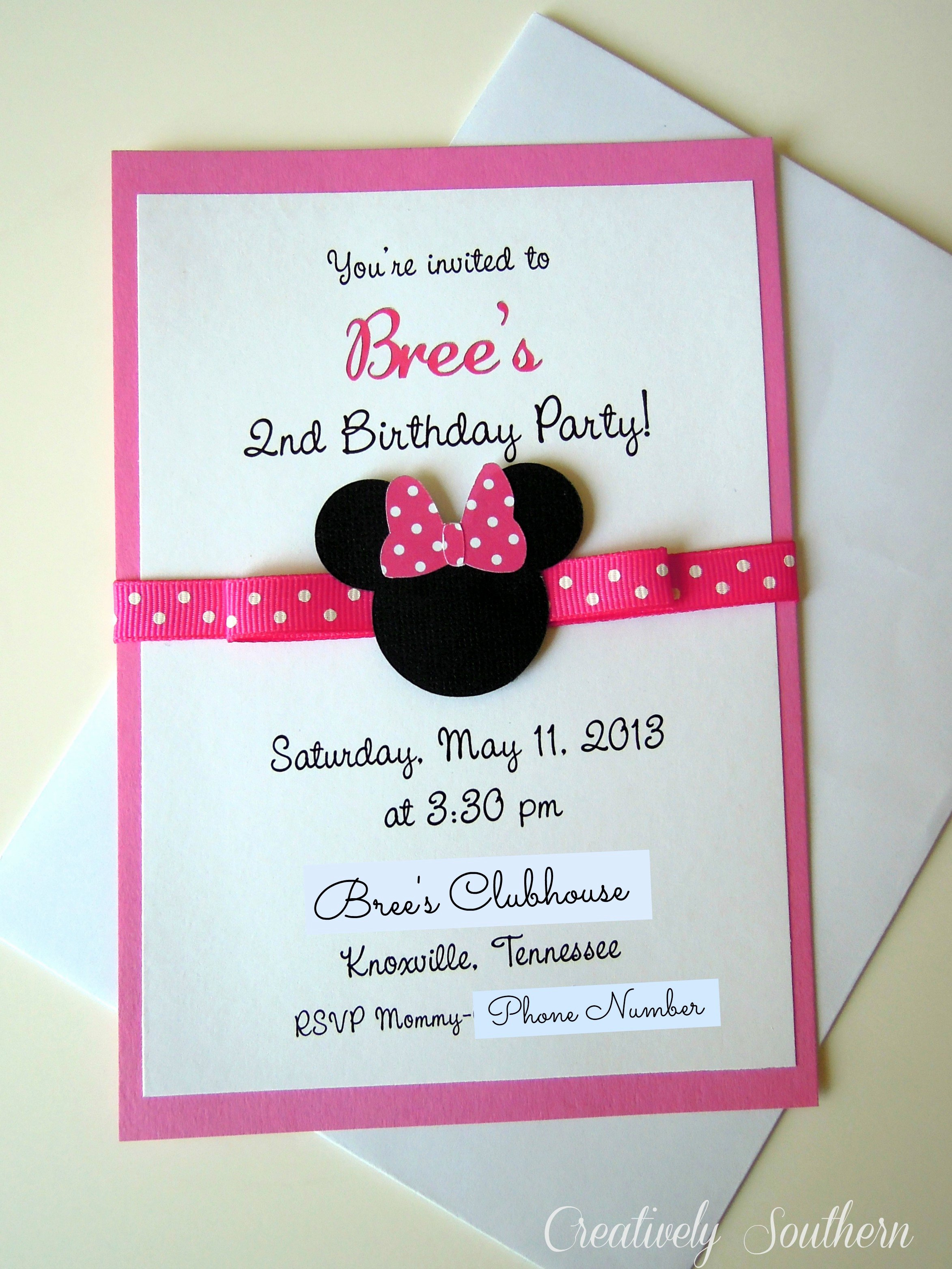 Minnie Mouse Birthday Invitations Best Of Minnie Mouse Birthday and Paper Mache